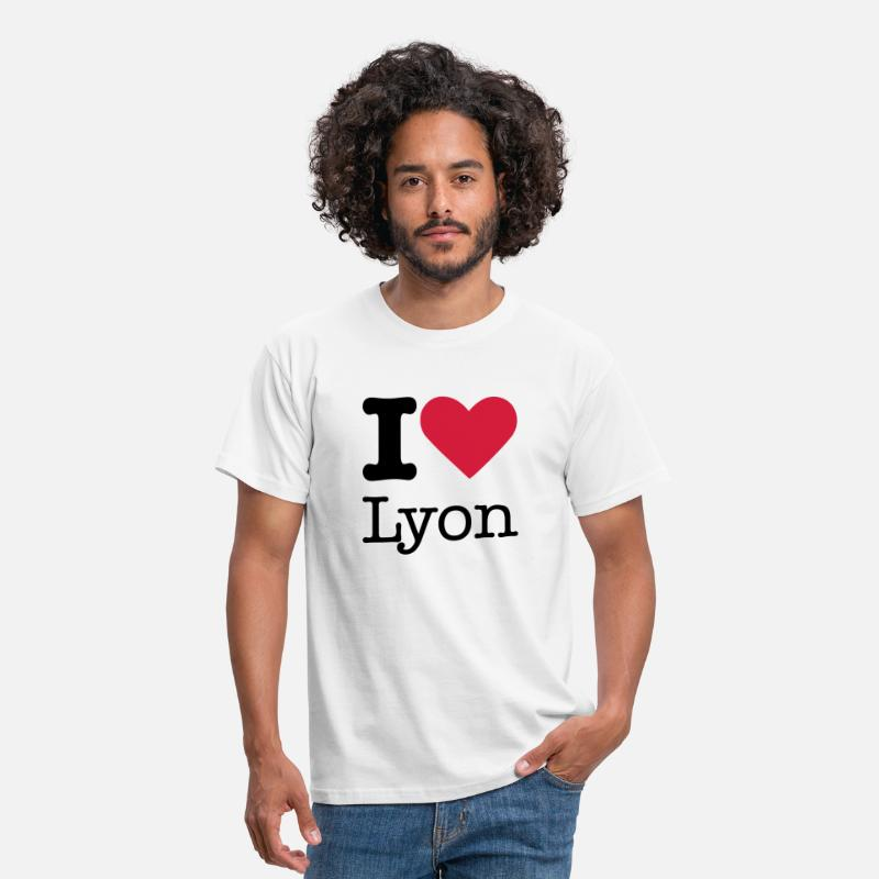 Paris T-shirts - I Love Lyon - T-shirt Homme blanc