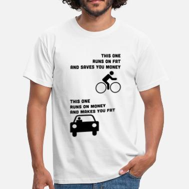 Fat Bike Runs on fat and saves you money - Men's T-Shirt