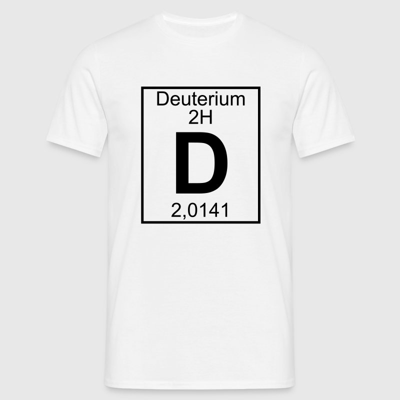 D (Deuterium) - Element 2H - pfll - Men's T-Shirt