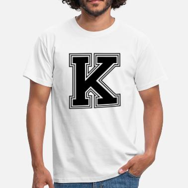Letters Of The Alphabet K_letter_K_(w31) - Men's T-Shirt