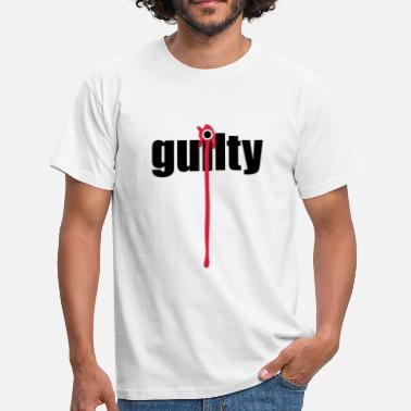 Guilty Guilty | Blood | Margin - Mannen T-shirt
