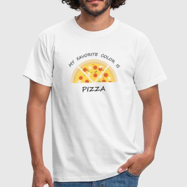 MY FAVORITE COLOR IS PIZZA - Männer T-Shirt
