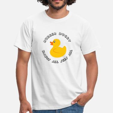 Rubber Duckie Rubber Ducky knows all - Men's T-Shirt