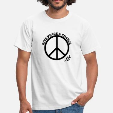 John Lennon GIVE PEACE A CHANCE - Men's T-Shirt