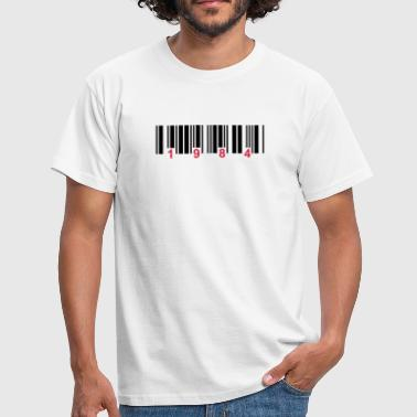 Gouvernement barcode 1984 - T-shirt Homme