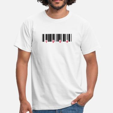 Mind barcode 1984 - Men's T-Shirt