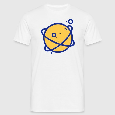 Planet Logo 4 - Men's T-Shirt