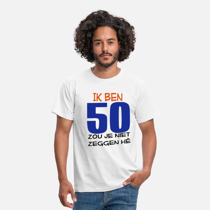 '50 T-Shirts - 50 - Mannen T-shirt wit