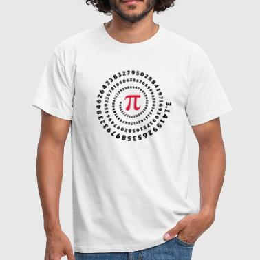 pi mathématiques π science spirale sans fin - T-shirt Homme