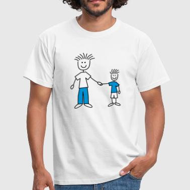family_dad_with_boy_2c - Männer T-Shirt