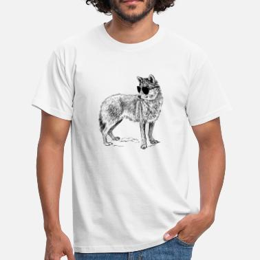 Cool Wolf Cool wolf with sunglasses - Men's T-Shirt