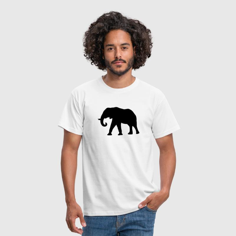 elephant silhouette ombre shadow7 - Herre-T-shirt