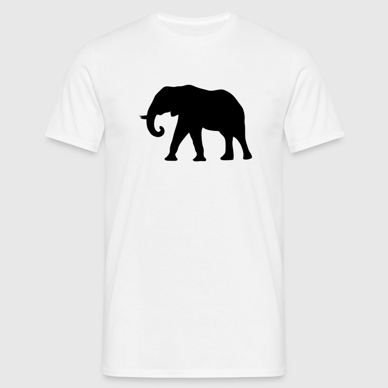 elephant silhouette ombre shadow7 - Men's T-Shirt