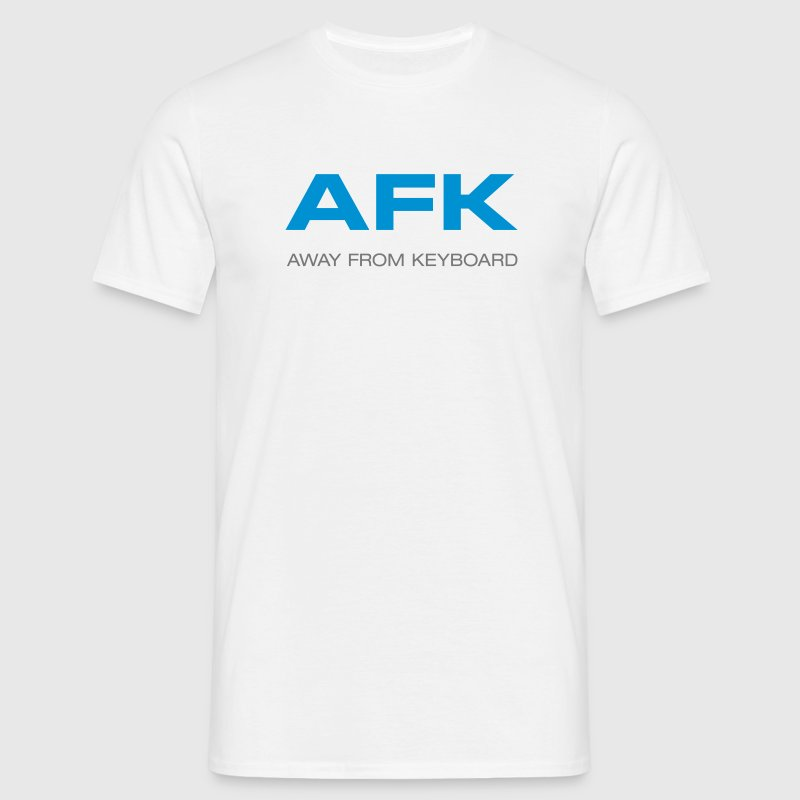 AFK away from keyboard Computer Tastatur - Männer T-Shirt