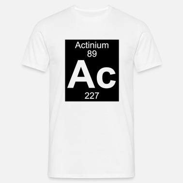 Actinium Actinium (Ac) (element 89) - Men's T-Shirt