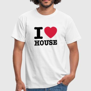 I Love House I love house / I heart house - Men's T-Shirt
