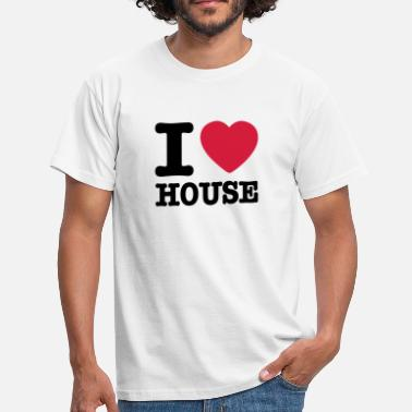 House I love house / I heart house - Herre-T-shirt
