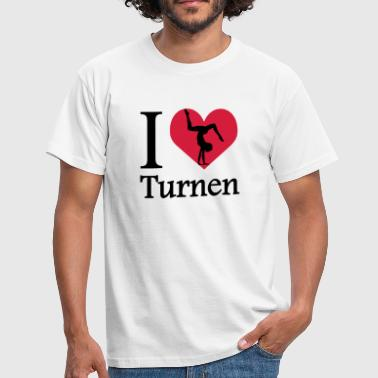 Ik hou van turnen / I Heart Gymnastiek - Mannen T-shirt