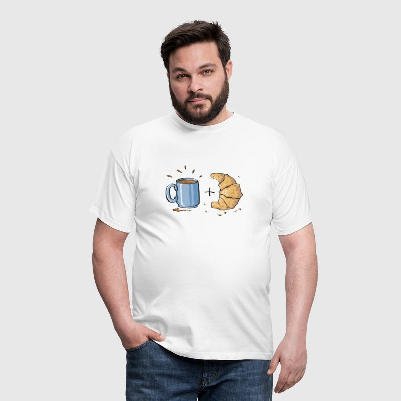 Coffee and croissant - Men's T-Shirt