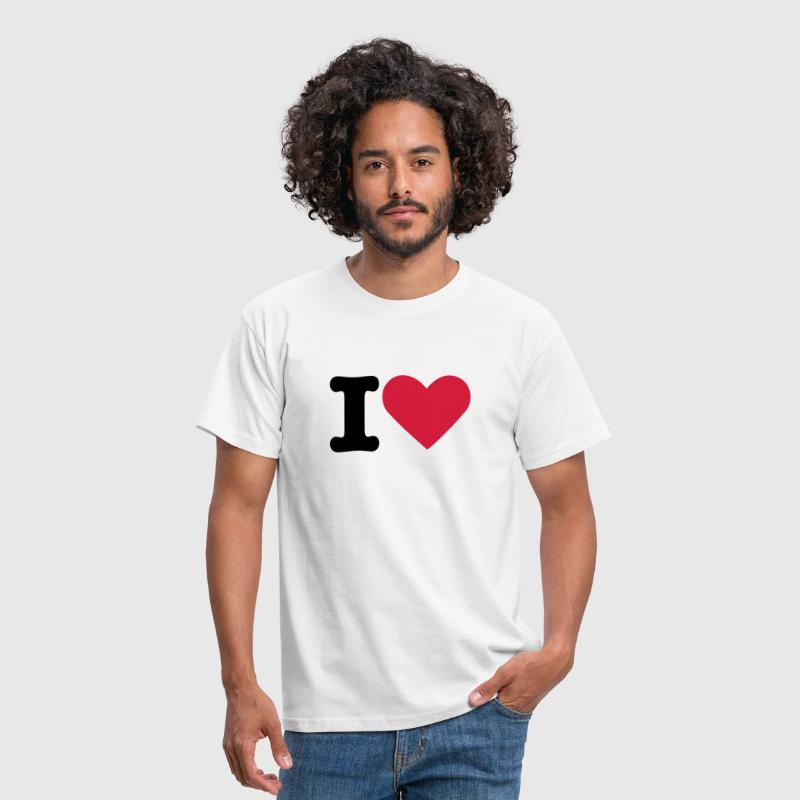 I love  - Herre-T-shirt