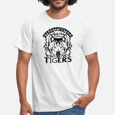 Streetfight Streetfighters Fight Club Tigers - Herre-T-shirt