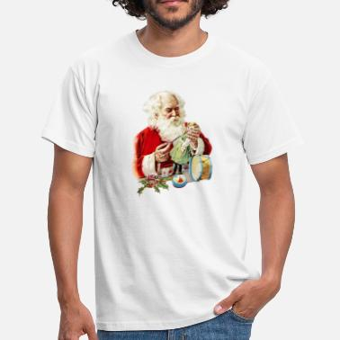 Patroon Breien KERSTMAN CLAUS BREI PATROON - Mannen T-shirt