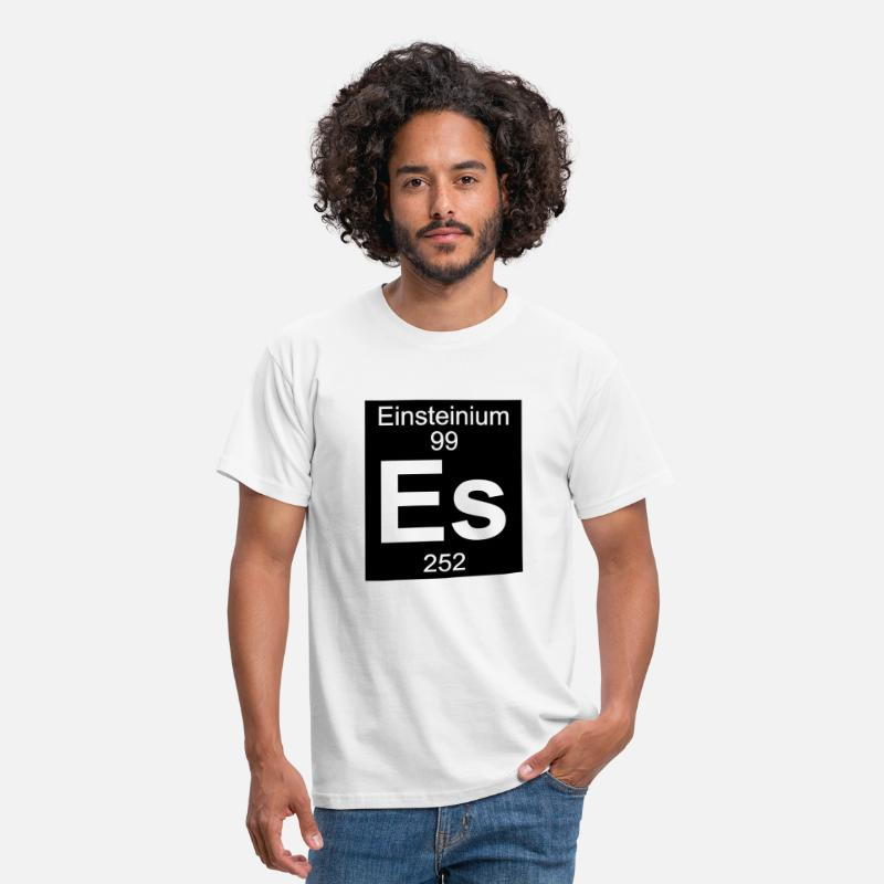 Einsteinium T-Shirts - Einsteinium (Es) (element 99) - Men's T-Shirt white