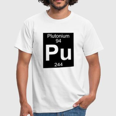 Element 94 - pu (plutonium) - Inverse (Full) - Herre-T-shirt