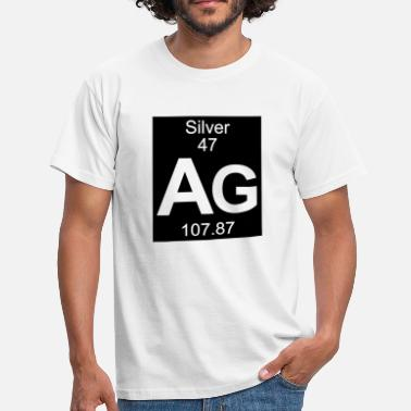 Silver Ag 47 Element  47 - ag (silver) - Inverse (Full) - T-shirt Homme
