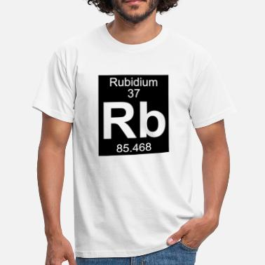 Rb Element  37 - rb (rubidium) - Inverse (Full) - T-shirt Homme