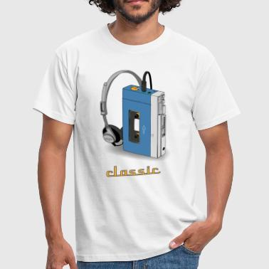 Walkman CLASSIC-WALKMAN im Retrodesign, blau - Männer T-Shirt