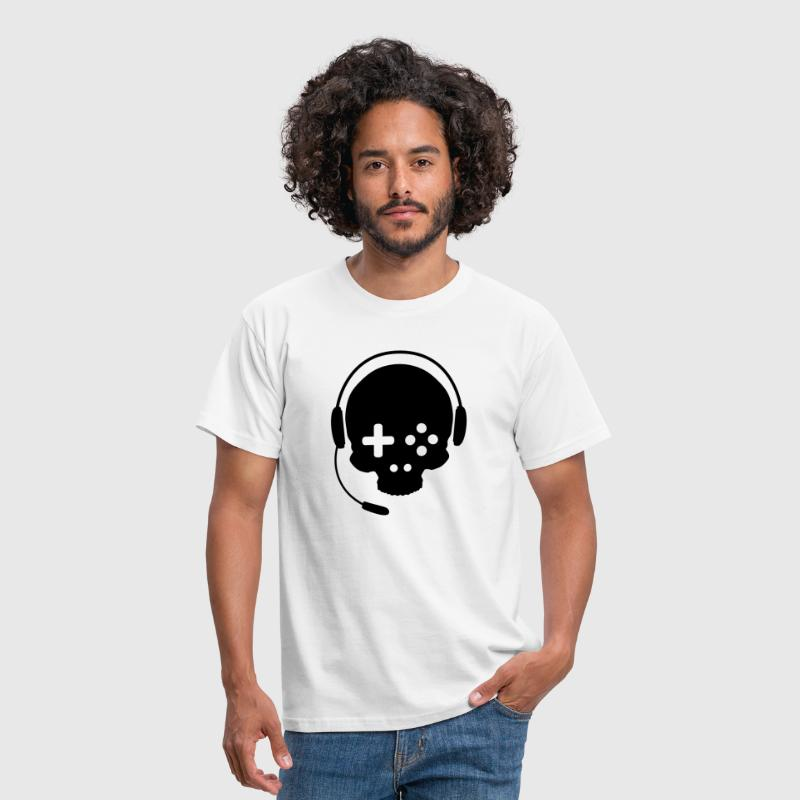 Game Controller Skull with Headset - Men's T-Shirt