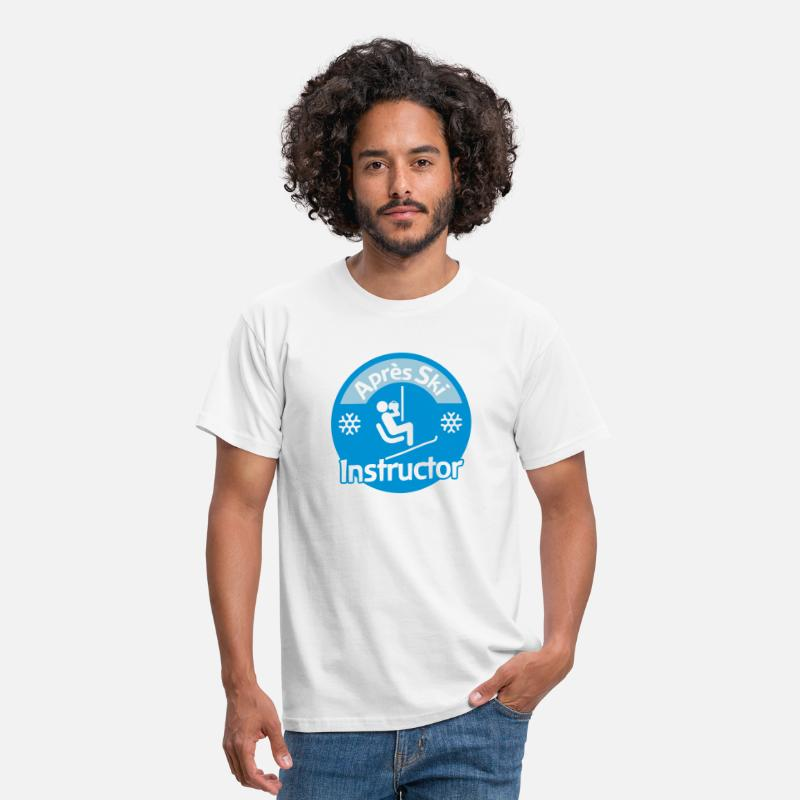 Ski T-Shirts - Après-Ski Instructor - Men's T-Shirt white