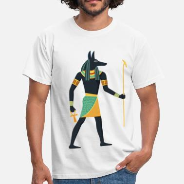 Égypte Pharaon Anubis Egypt hieroglyphics graphic old dog - T-shirt Homme