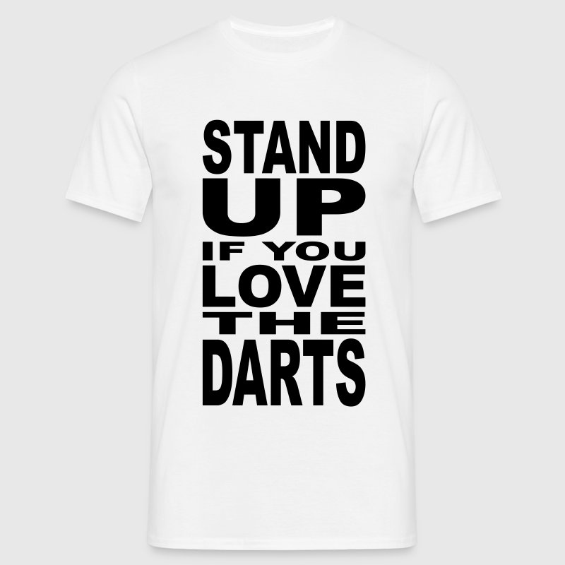 Stand Up If You Love the Darts NL - Mannen T-shirt
