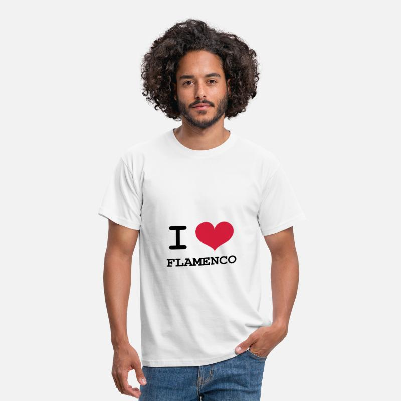 Flamenco T-Shirts - I Love Flamenco ! - Men's T-Shirt white