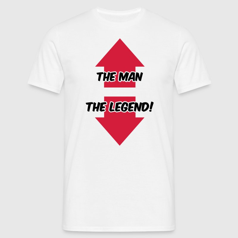 The Man, The Legend - T-shirt herr
