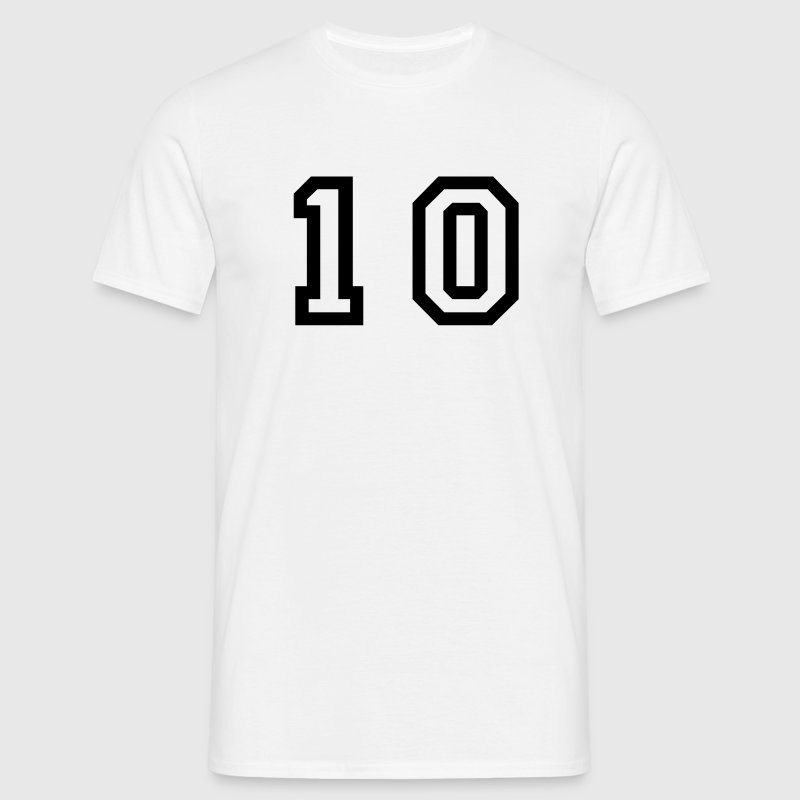 number - 10 - ten - Men's T-Shirt