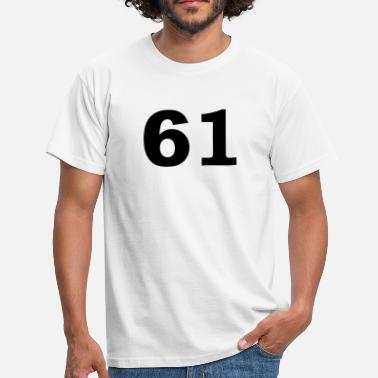 Sixty Football Number - 61 – Sixty One - Men's T-Shirt