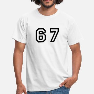 Sixty Football Number - 67 - Sixty Seven - Men's T-Shirt