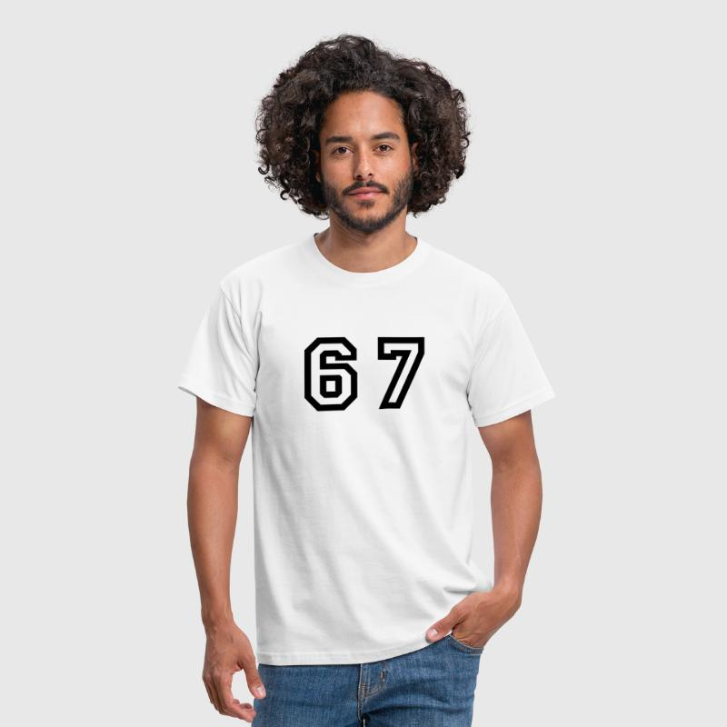 Number - 67 - Sixty Seven - Men's T-Shirt