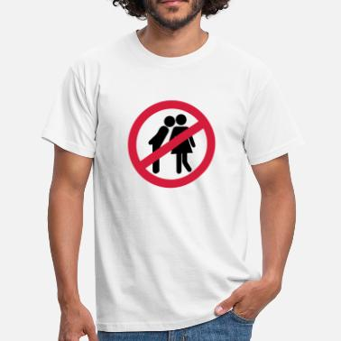 Kiss No Kisses - Mannen T-shirt