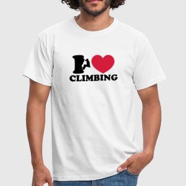 Climbing, I Love Heart, Sports, Rock, Extreme - Camiseta hombre