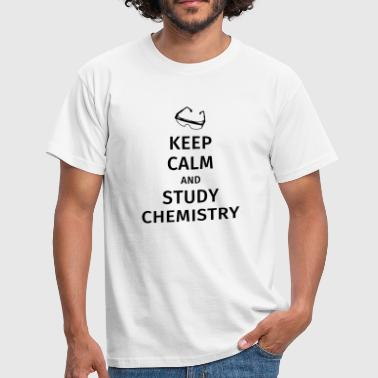 keep calm and study chemistry - T-shirt herr
