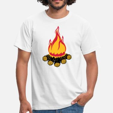 Abendschule lagerfeuer camping abend nacht campen camper holz - Männer T-Shirt
