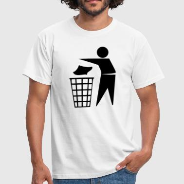 trash can - Men's T-Shirt