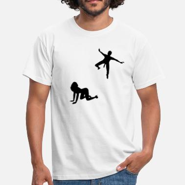 Sex Woman waiting for parachutists  - Men's T-Shirt