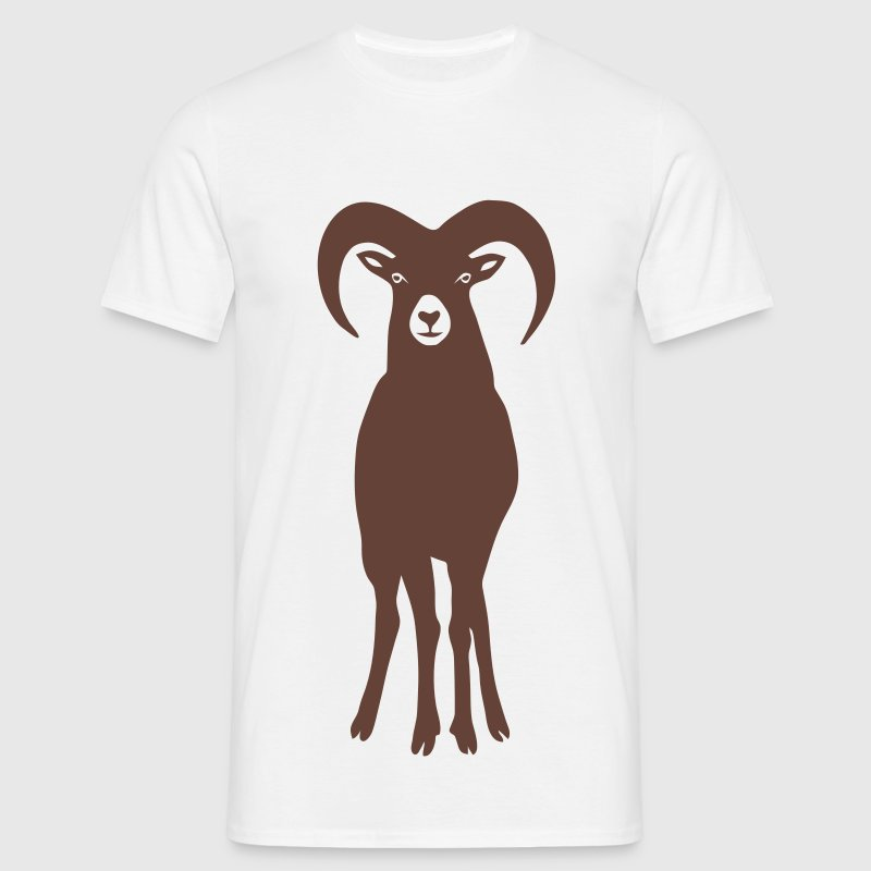 sheep wild aries ram goat animal star sign  - T-shirt Homme