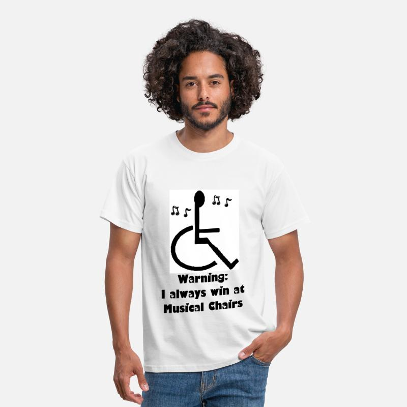 Humour T-Shirts - Musical Chairs - Men's T-Shirt white