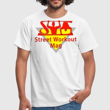 MAG LOGO STREET WORKOUT FOR WHITE BACKGROUND - Men's T-Shirt